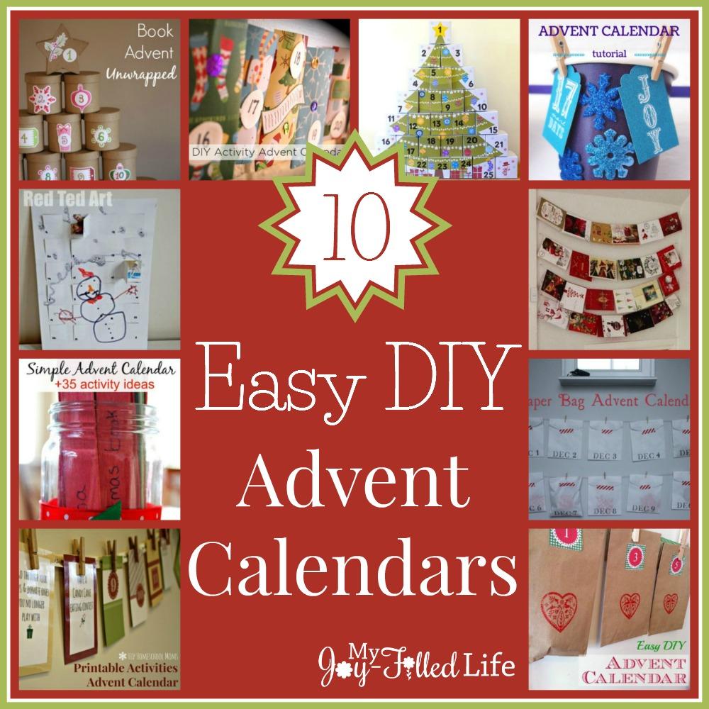 10 Easy DIY Advent Calendars